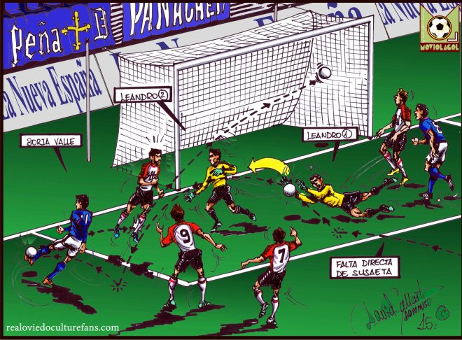 Real Oviedo, 1 - Cultural Leonesa, 1 - Borja Valle, 1-1 (45')webp